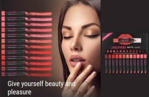 Langmanni Matte Lipstick Set Revizuire – Un set de frumusețe cu stilou natural impermeabil de 12 bucăți!